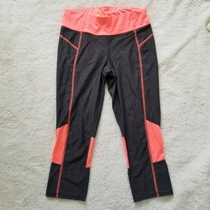 SALE! Neon Pink and Gray Workout Capris